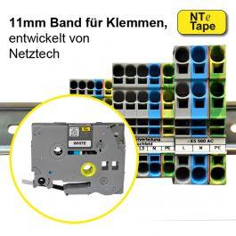 11mm breites, nicht klebendes Band für Reihenklemmen
