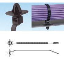 Kabelbinder mit Schirmflügel zur Steckmontage
