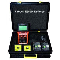P-touch E550W Set inkl. zwei 11mm Bänder für Reihenklemmen